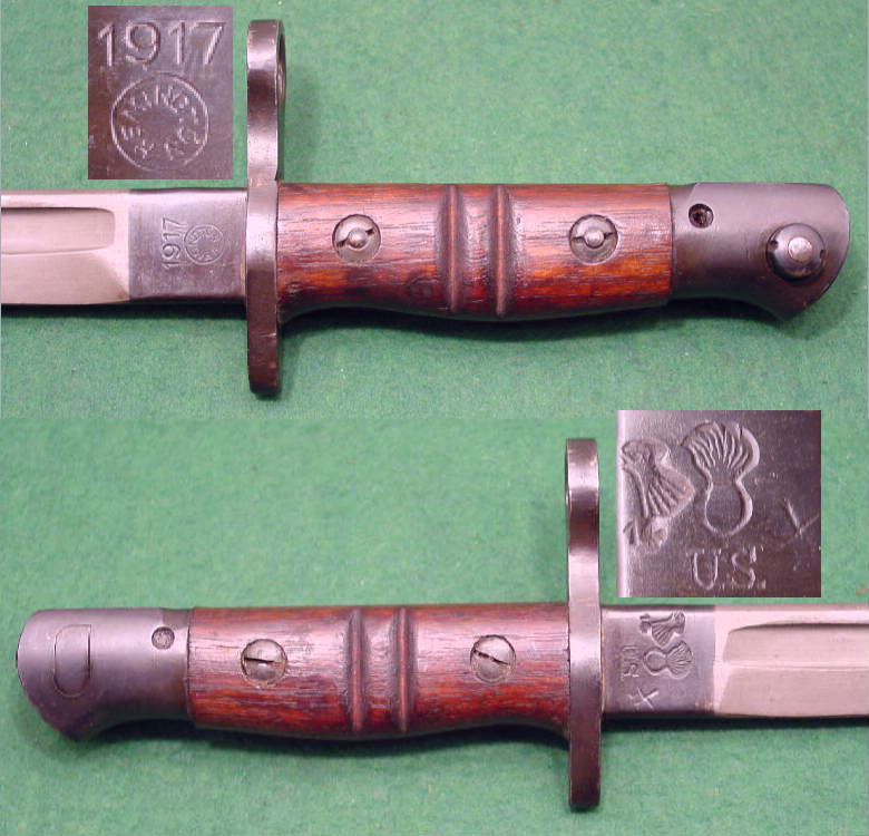 American Model 1917 bayonet and wire-hanger scabbard SOLD